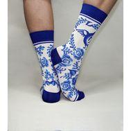 Дизайнерские носки SOXESS в русском стиле Гжель