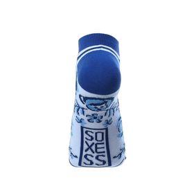 Дизайнерские носки SOXESS в русском стиле Гжель (короткие)